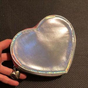 Iridescent heart pouch H&M